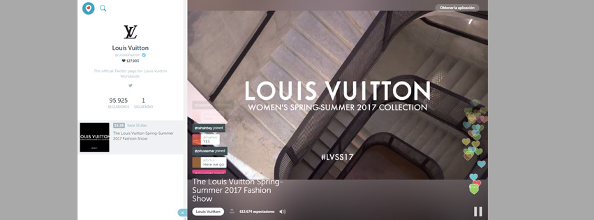 Louis Vuitton estrena Periscope Producer